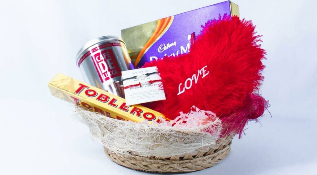 Love & Surprises Gift Basket - Last Second Valentines Day Gifts