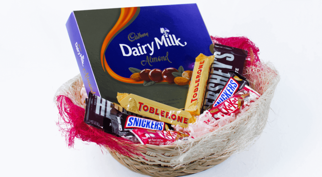 Sweet Tooth Gift Basket - Last Second Valentines Day Gifts